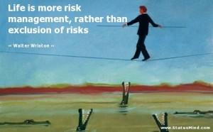 Risk Management Quote